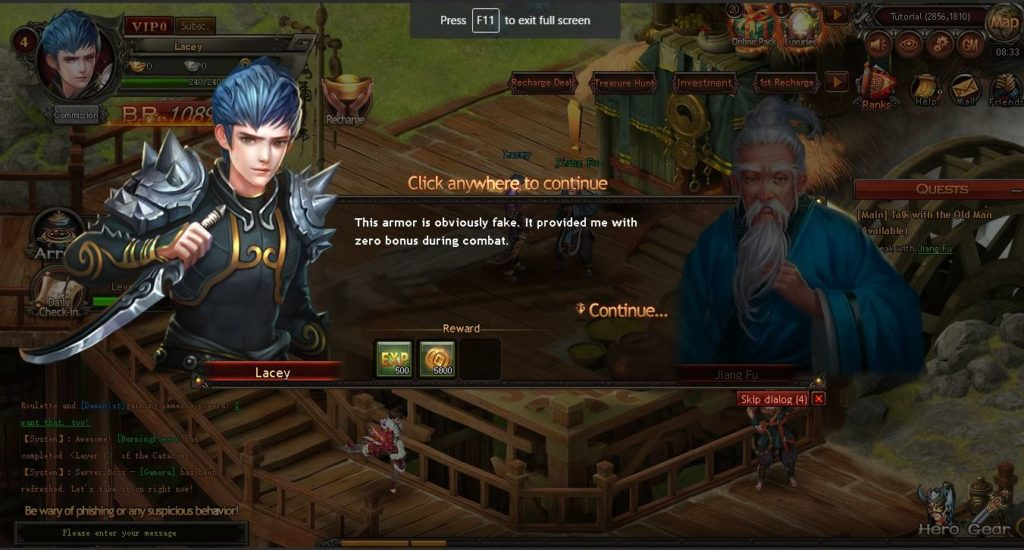 Dragonbone Dynasty browser MMO